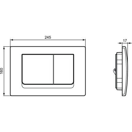 Clapeta actionare Ideal Standard Solea M1 alb