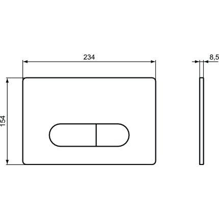 Clapeta actionare Ideal Standard Oleas M1, crom lucios