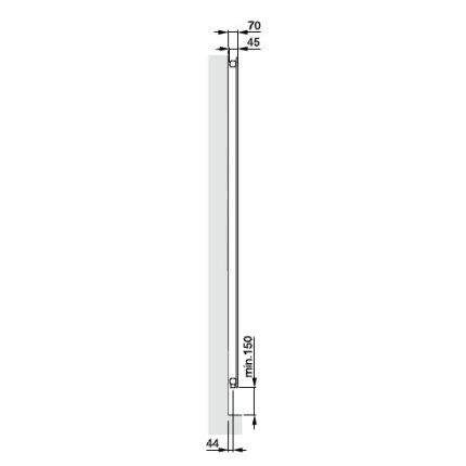 Radiator Zehnder Nova Mirror, 638 mm, M0335 titan