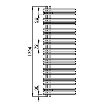 Radiator Zehnder Yucca asimetric 1304x578 mm, crom
