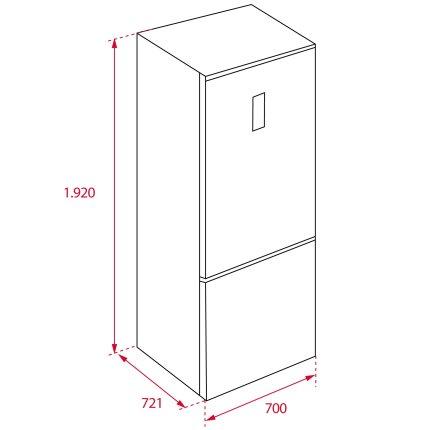Combina frigorifica Teka Maestro RBF 78720 GWH LongLife No Frost, IonClean, 461 litri net, clasa A++, Cristal White