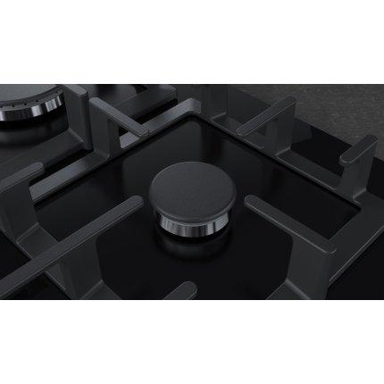 Plita gaz incorporabila Neff Line T27CS59S0 75cm, 5 arzatoare, gratare fonta, sticla neagra