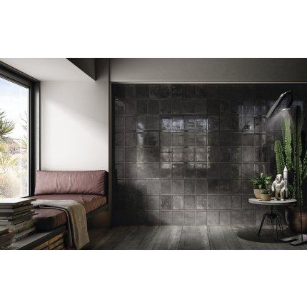 Faianta Diesel living Ribbed 60x20cm, 7mm, Black Wall