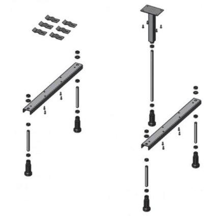 Suport picioare pentru cada Duravit D-Code 1700x700