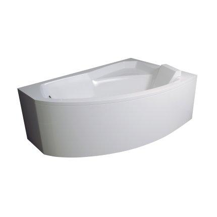 Cada baie asimetrica Besco Rima 130x85cm, acril, orientare dreapta