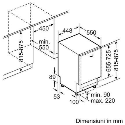 Masina de spalat vase incorporabila Neff Line S583M50X0E 45 cm, 10 seturi, 5 programe, clasa A++