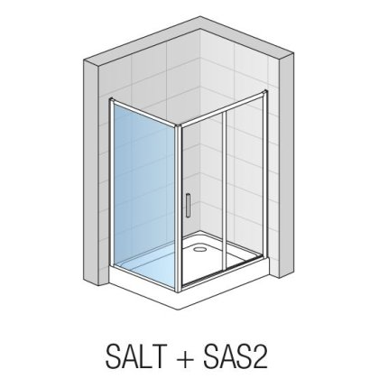 Perete lateral SanSwiss Salia 90 cm, sticla securizata 6 mm