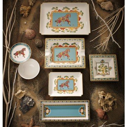 Bol patrat Villeroy & Boch Samarkand Aquamarin Gifts 14x14cm