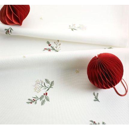 Fata de masa Sander Embroidery Winter Dream 85x85cm, 29 Ecru