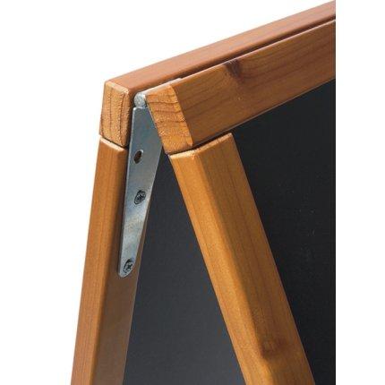 Tabla de scris pentru afisaj stradal Securit Duplo 85x54.5x44cm cu rama lemn pin, teak