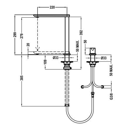 Baterie bucatarie Teka FO 985 pentru montare sub fereastra