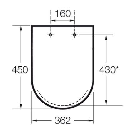 Capac WC Roca Meridian cu inchidere lenta