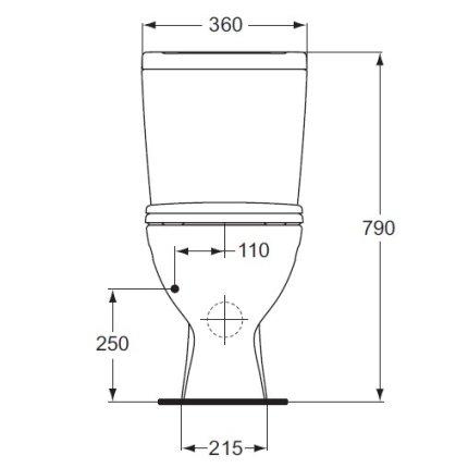 Set complet vas WC Ideal Standard Eurovit Plus cu rezervor si capac