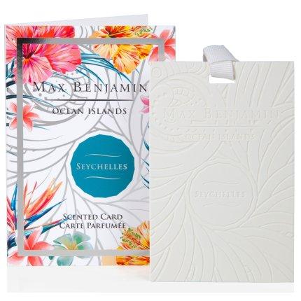 Card parfumat Max Benjamin Ocean Islands Seychelles