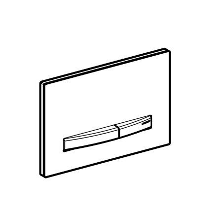 Clapeta actionare Geberit Sigma50, alb - crom negru