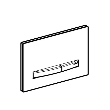 Clapeta actionare Geberit Sigma50, negru - alama