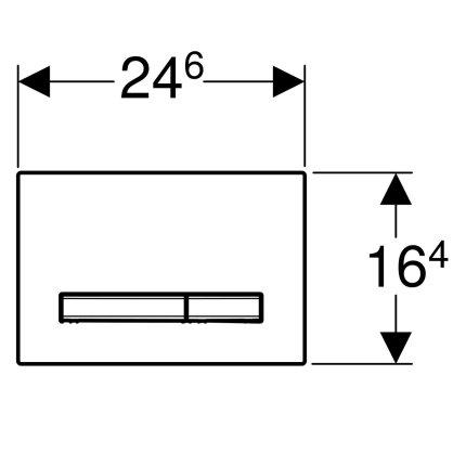 Clapeta actionare Geberit Sigma50, beton, detalii alama