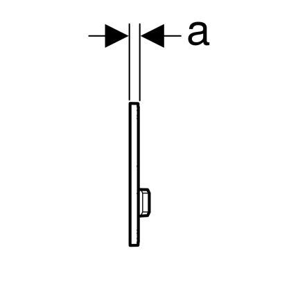 Clapeta actionare Geberit Sigma50, alb- alama