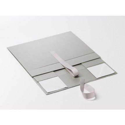Cutie cadou Folda A4 Deep, inchidere magnetica si fundita, Silver