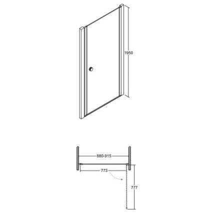 Usa de dus Besco Sinco 90cm batanta, sticla transparenta securizata 6 mm