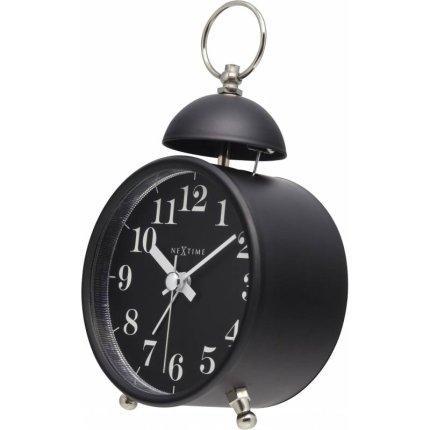 Ceas de masa NeXtime Single Bell 16cm, Black