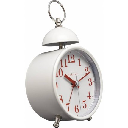 Ceas de masa NeXtime Single Bell 16cm, White