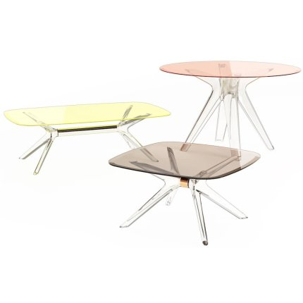 Masuta Kartell Blast design Philippe Starck, 80x80cm, h40cm, crom-bronz transparent
