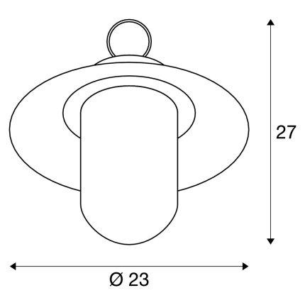 Pendul exterior SLV Molat, 1xE27, h 250mm, IP44, antracit