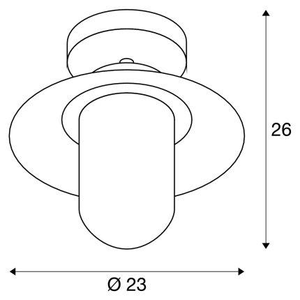 Aplica tavan exterior SLV Molat, 1xE27, IP44, antracit