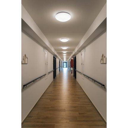 Aplica SLV Lipsy 40 Dome, LED 17.5W, d 35cm, IP44, alb