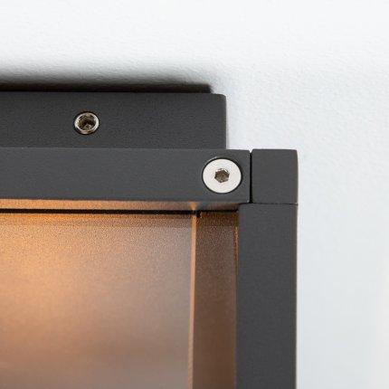 Aplica exterior SLV Quadrulo Sensor WL, 1x E27, IP44, senzor miscare, antracit