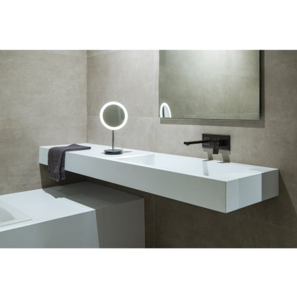 Oglinda cosmetica SLV Maganda TL, iluminare LED 4.8W, d21.6cm, IP44, crom
