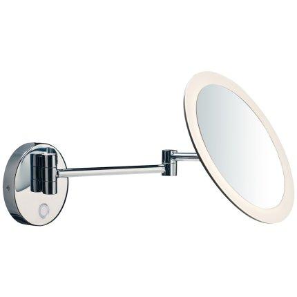 Oglinda cosmetica de perete SLV Maganda WL, iluminare LED 4.8W, d21.6cm, IP44, crom