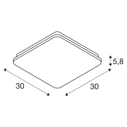 Aplica SLV Sima Sensor, LED 24W, 30x30cm, IP44, senzor miscare, alb