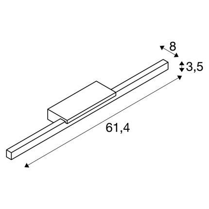 Iluminare oglinda SLV Glenos, LED 12.6W, 61.4cm, IP20, alb
