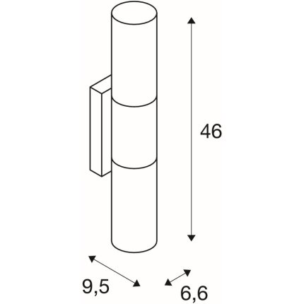 Aplica SLV Devin Double, LED 16W,46cm, IP44, crom-alb