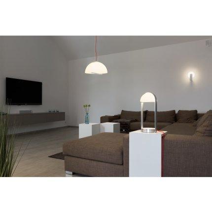 Suspensie SLV Brenda, LED 18.9W, h200cm, argintiu-alb