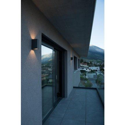 Aplica exterior SLV Quad 2 XL, LED 8W, IP44, antracit