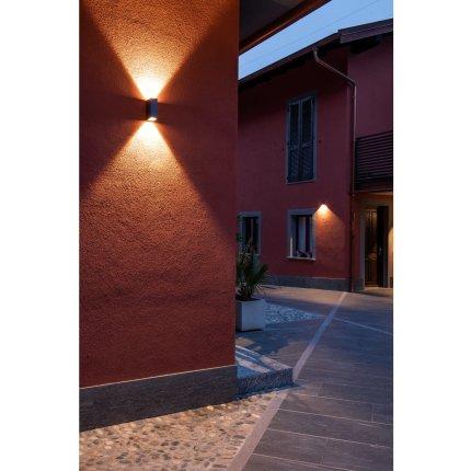 Aplica exterior SLV Big Quad, LED 8.8W, IP54, antracit
