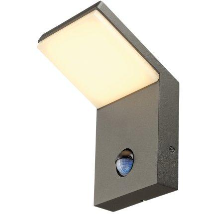 Aplica exterior SLV Ordi, LED 9W, Sensor miscare, IP44, antracit