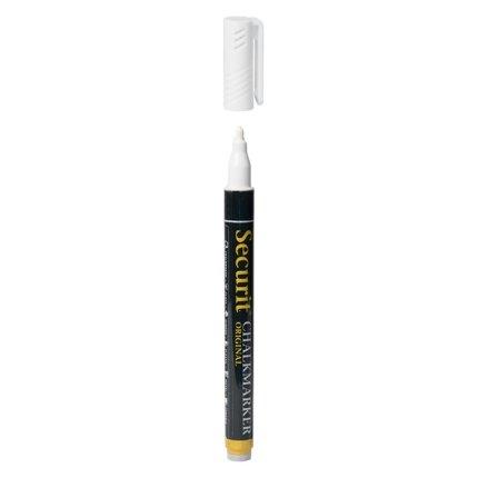 Set 7 markere creta Securit Liquid Small 1-2mm, alb