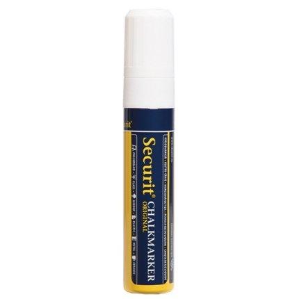Marker creta Securit Liquid Large 7-15mm, alb