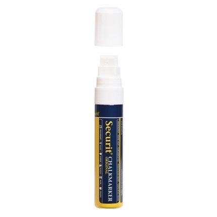 Set 8 markere creta Securit Liquid Large 7-15mm, alb