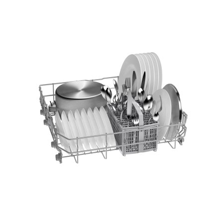 Masina de spalat vase Bosch SMS2ITI33E Serie 2, 12 seturi, 5 programe, 60cm, clasa A+, Home Connect, silver inox anti-amprenta
