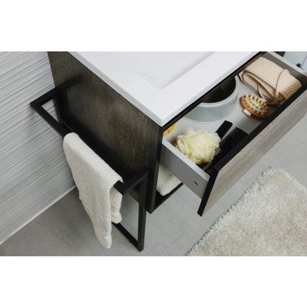 Set mobilier Sanotechnik Soho cu dulap baza suspedat si lavoar compozit 80x46cm