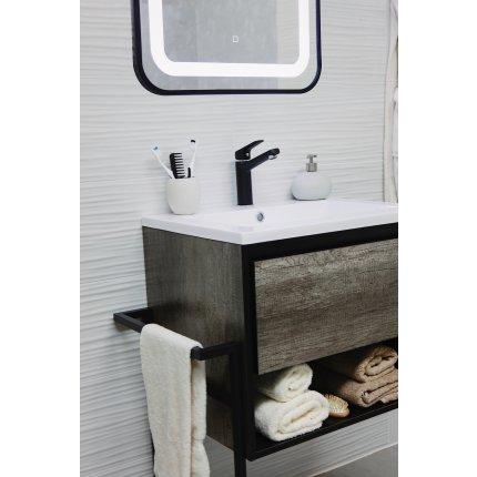 Set mobilier Sanotechnik Soho cu dulap baza suspedat si lavoar compozit 120x50cm