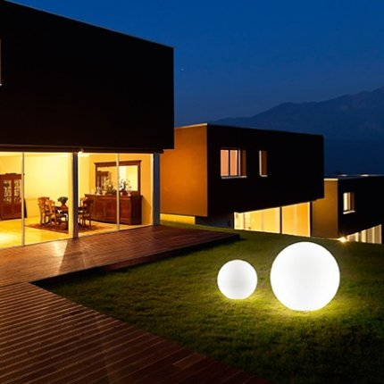 Lampa de exterior Ideal Lux Sole PT1 Small, 1x60W, 32x30cm, alb