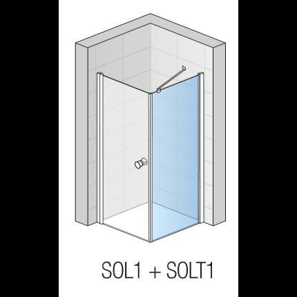 Perete lateral SanSwiss Solino SOLT1 90cm, sticla securizata 6mm
