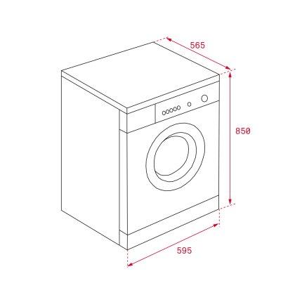 Masina de spalat rufe Teka SPA TKD 1280 8kg, 16 programe, 1200rpm, Clasa A+++, alb