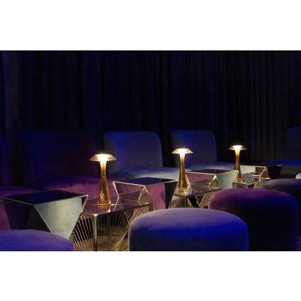 Veioza Kartell Space design Adam Tihany, LED, 15x30cm, auriu metalizat